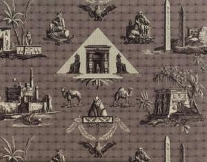 BRAQUENIE MONUMENTS D''EGYPTE FABRIC