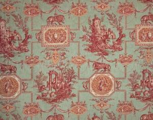 Buy Braquenie Les Muses Et Le Lion Toile De Jouy Fabric