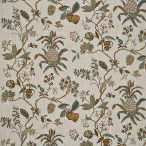 GP & J BAKER EXOTIC PINEAPPLE LINEN FABRIC