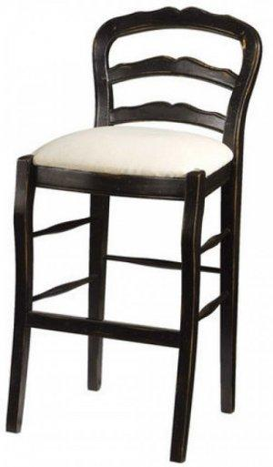 HANDMADE FRENCH BARSTOOL IN BLACK