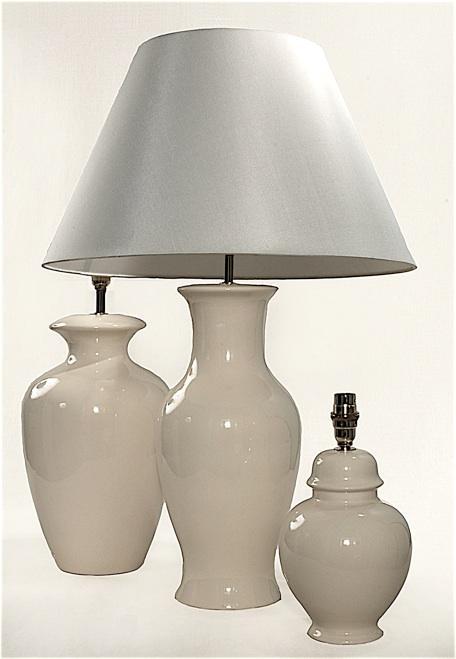 35cm buttermilk fishtail lamp 20 cm ginger jar lamp. Black Bedroom Furniture Sets. Home Design Ideas