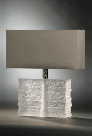 CRYSTAL STRATA LAMP