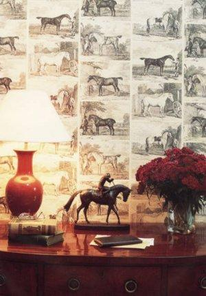 Lewis & Wood Gilpin Horses Wallpaper