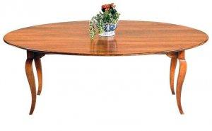 OVAL TAPER LEG DINING TABLE
