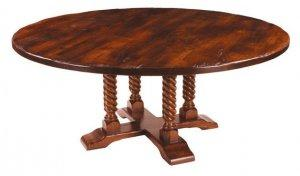 QUAD POD BIRDCAGE BARLEY TWIST ROUND DINING TABLE