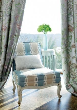 Anna French Aria Songbirds Woven Fabric