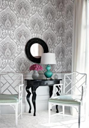 Thibaut artisan rio wallpaper alexander interiors designer for Wallpaper home goods