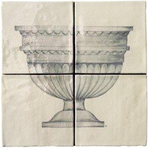 MARLBOROUGH TILES CLASSICAL POTS 4 PANEL TILES