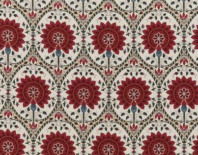 BUY BRAQUENIE TAJ MAHAL FABRIC Alexander InteriorsDesigner Fabric