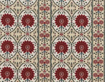 Buy Braquenie Taj Mahal Rayure Fabric Alexander Interiors