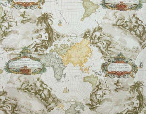 Buy pierre frey planisphere fabric alexander interiors for Pierre frey fabric
