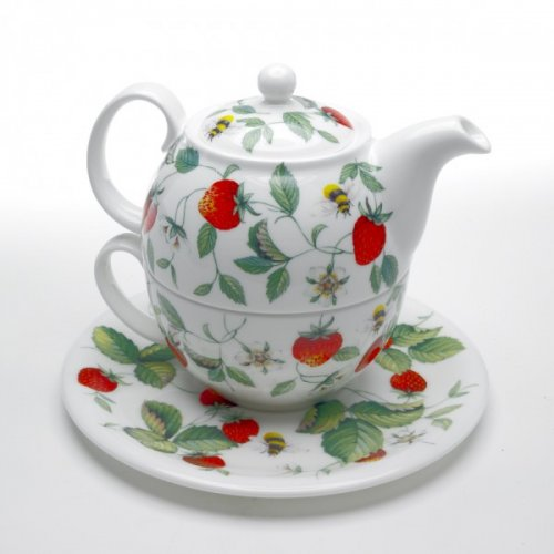 roy kirkham bone china alpine strawberry teapot with. Black Bedroom Furniture Sets. Home Design Ideas
