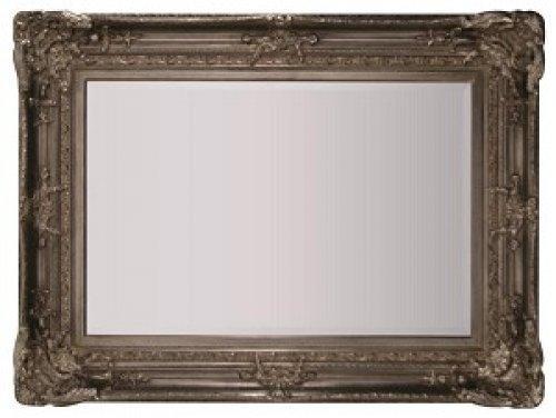 silver framed mirror 48 x 72 alexander interiors designer