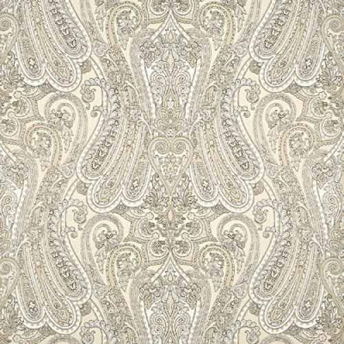 Mulberry paisley wallpaper