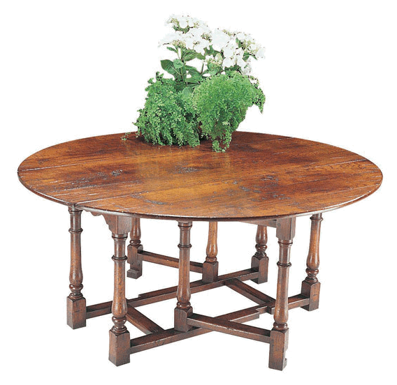 Single gate leg dining table alexander interiors designer for Single leg dining table