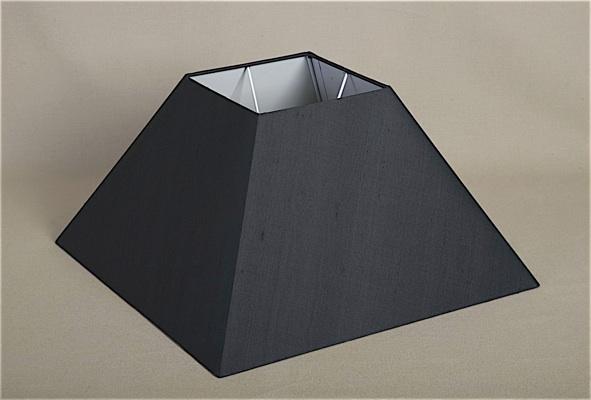 Square Black Silk Shade Lamp Shade Alexander Interiors