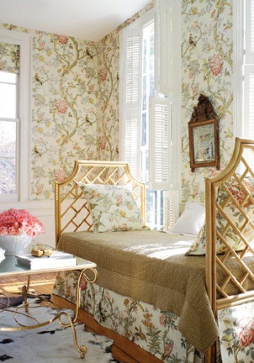 Thibaut anniversary papagayo wallpaper alexander interiors - French interior design companies ...