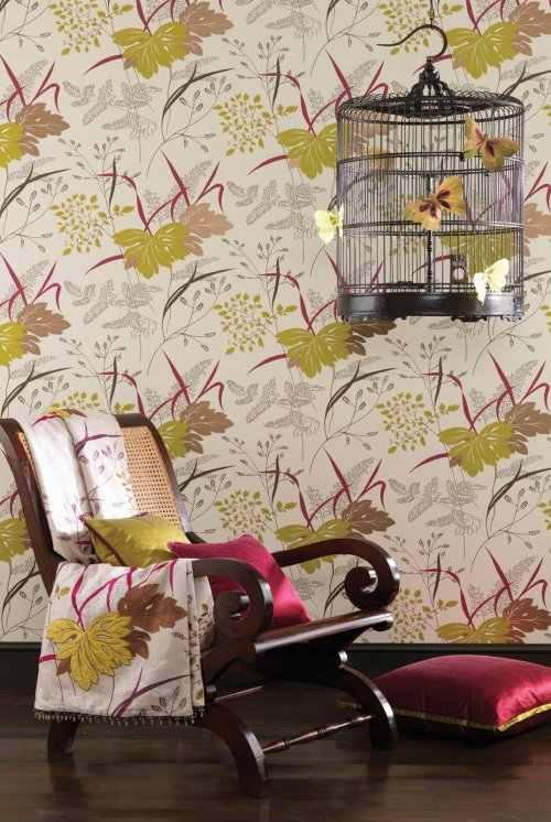 nina campbell sylvana arboretum wallpaper