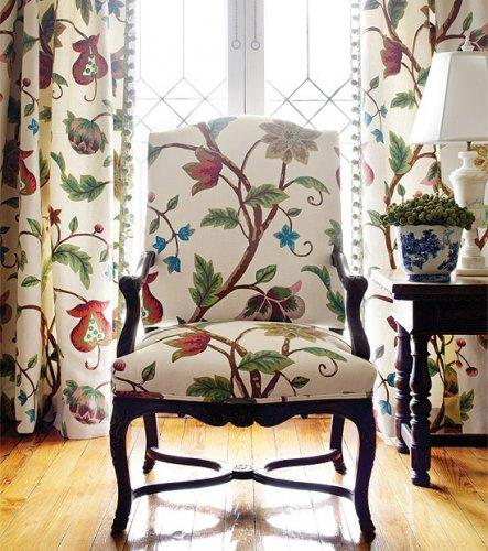 Thibaut Residence Baron Crewel Woven Fabric Alexander