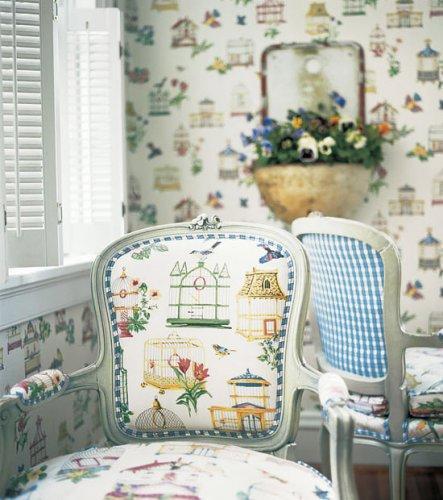 Thibaut Spring Lake Birdcage Fabric Alexander Interiors
