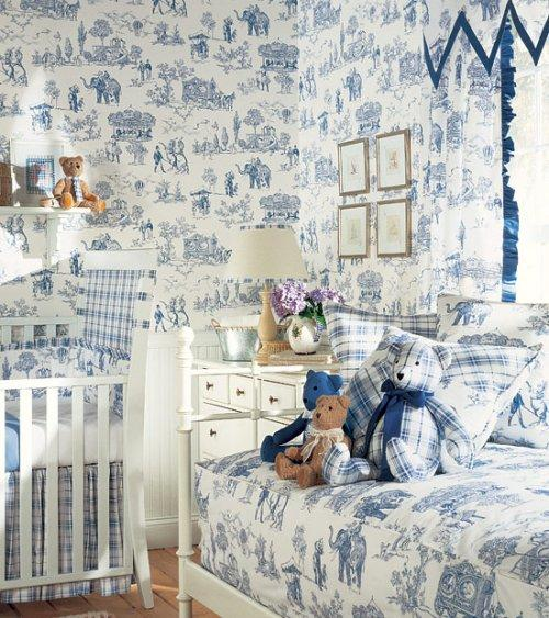 Thibaut Toile Resource Vol II Carnival Wallpaper