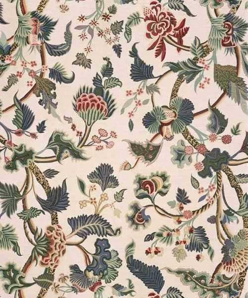 Buy Bennison Crewelwork Fabric Online Alexander Interiors Designer Fabric Wallpaper And Home