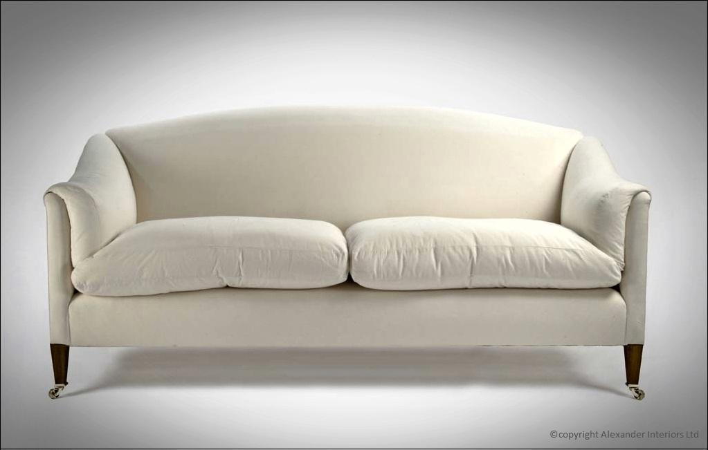 Alexanders Dorchester Curved Back Handmade Sofa Alexander Interiors Designer Fabric Wallpaper