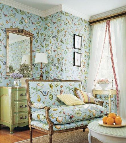 Thibaut spring lake lillian wallpaper alexander interiors for Wallpaper home fabrics