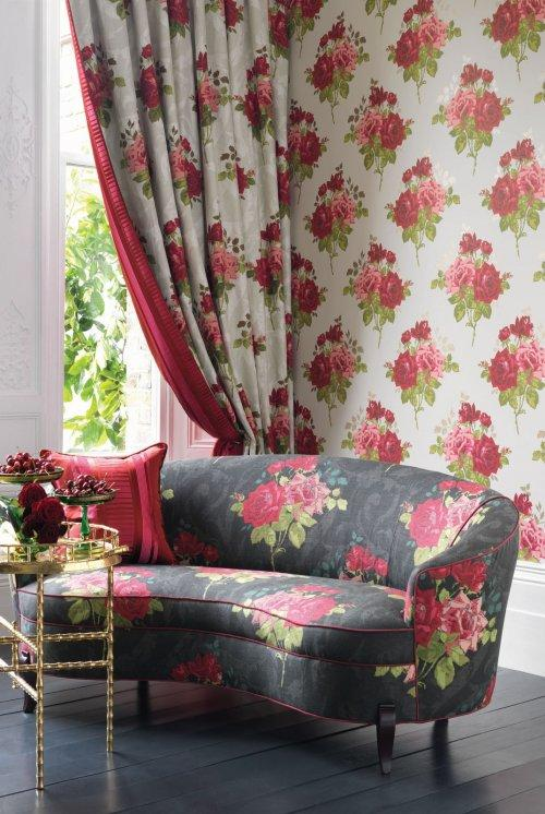 Buy Nina Campbell Paradiso Rose Alba Fabric Online