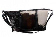 BLACK AND WHITE SMALL LEATHER BAG