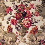 MULBERRY FLORAL ROCCOCO   FABRIC