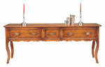 PANELLED SERVER WITH FRENCH CABRIOLE LEG