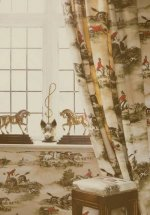 Lewis & Wood Hunting Scenes Fabric