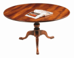 ROUND OAK TRIPOD DINING TABLE