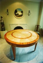HANDMADE NEO-CLASSICAL BALTIC EXTENDABLE DINING TABLE