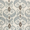 Select Colour Code Variant: 5597 INDO IKAT - CHOCOLATE AND DOVE ON LINEN