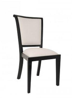 DINING CHAIR WITH PALAZZO FABRIC - BLACK