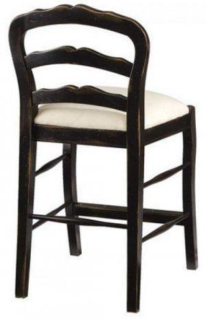 HANDMADE FRENCH COUNTER STOOL IN BLACK