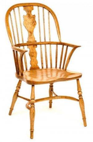 PIPPY OAK SPLAT WINDSOR ARMCHAIR