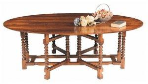 BOBBIN DOUBLE GATE LEG DINING TABLE
