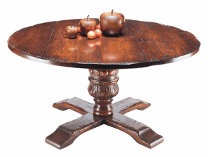 JACOBEAN HAND CARVED BULBOUS DINING TABLE