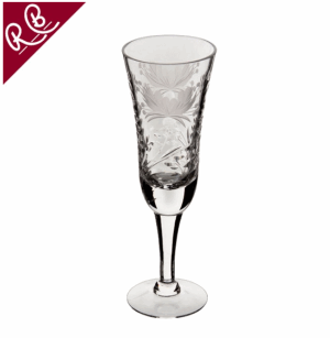 ROYAL BRIERLEY HONEYSUCKLE CHAMPAGNE FLUTE GLASS