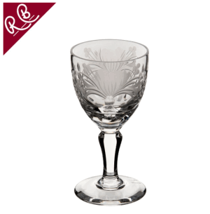 ROYAL BRIERLEY HONEYSUCKLE SMALL WINE GLASS