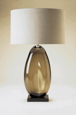 LARGE COFFEE BEAN GLASS LAMP