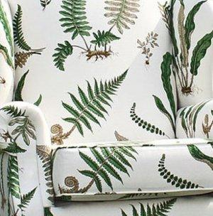 GP & J BAKER FERNS LINEN FABRIC