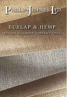 Phillip Jeffries Vinyl Burlap & Hemp Wallpaper