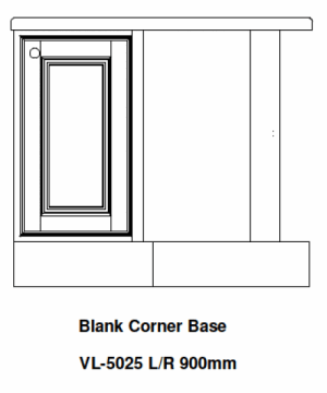 BLANK KITCHEN CORNER UNIT