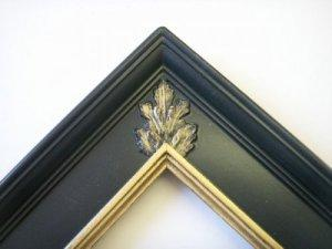 1_'' FLORENTINE BLACK WITH GOLD S/E MIRROR