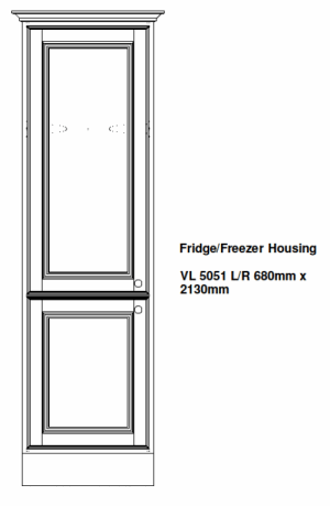 FRIDGE FREEZER KITCHEN HOUSING