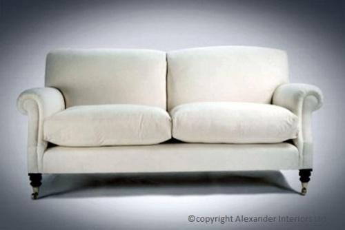 ALEXANDERS HENLEY SCROLL ARM HANDMADE SOFA